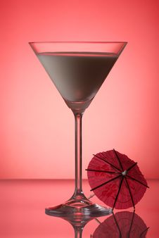 Free Milky Cocktail With Umbrella Stock Image - 6320461