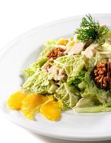 Salad Plate Stock Image