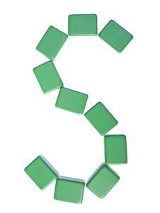 Free Mahjong Tiles Letter S Stock Photos - 6321163