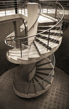 Free Spiral Stairway Royalty Free Stock Photo - 6321175