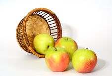 Free Apple And Basket Stock Image - 6321201