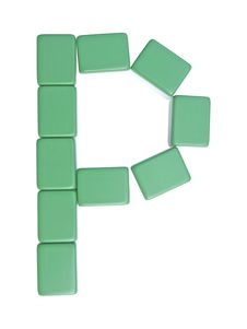 Free Mahjong Tiles Letter P Royalty Free Stock Photography - 6321247