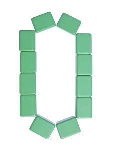 Free Mahjong Tiles Letter O Stock Photography - 6321492