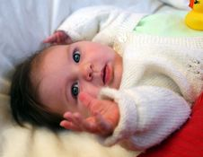 Free Baby Reaching Out Stock Photography - 6321592