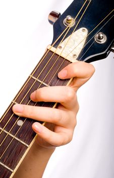 Free Playing Guitar Royalty Free Stock Photography - 6321767