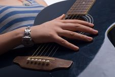 Free Playing Guitar Stock Photography - 6321872