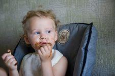 Free Baby Eat Chocolate Stock Photos - 6321993