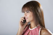 Free Sexy Hispanic Lady Talking On Cellular Phone Stock Images - 6322054