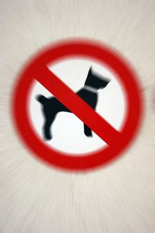 Free Dogs Banned! Stock Photos - 6322793