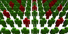 Free 3d People - Outsiders Royalty Free Stock Photos - 6323458