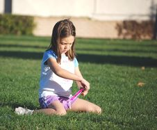 Free Young Girl At A Park Stock Images - 6323664