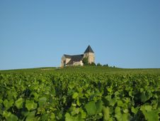 Church In French Countryside Stock Photo