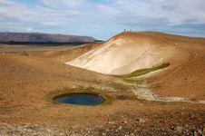 Volcano Of Krafla Stock Photo
