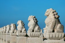 Free Stone Lion Stock Images - 6324114