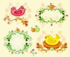 Set Of Autumn Design Elements. Stock Images