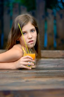 Free Portrait Girl With Juice Royalty Free Stock Image - 6324996