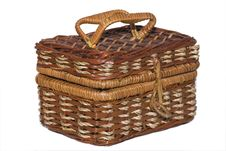 Free Art Weaving Of A Basket Royalty Free Stock Photos - 6325428