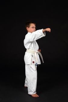 Free Young Boy Demonstrating Right Stance Stock Photos - 6325433