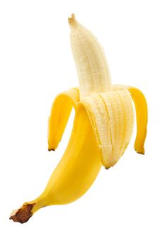 Free Ripe Peeled Banana Royalty Free Stock Photos - 6325628