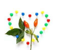 Free Color Pin And Berry Royalty Free Stock Image - 6325926