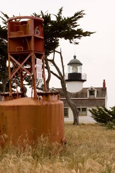 Point Pinos Lighthouse Pacific Grove-5-3-08_5263 Stock Photos