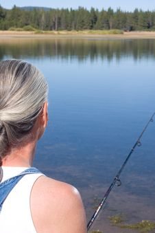 Free Woman Fishing Stock Images - 6326284