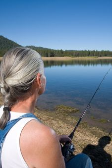 Free Woman Fishing Stock Image - 6326321