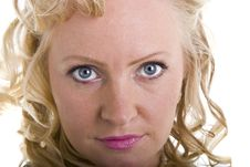 Curly Blonde Closeup Royalty Free Stock Image