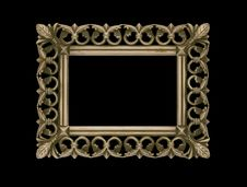 Free Empty Antique Frame Isolated Black Stock Photography - 6326552
