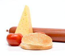 Free Set Products For Cheeseburger Stock Photography - 6326932