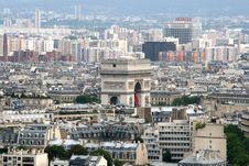 Free Arc Triumph From Tour Eiffel Stock Photo - 6327040