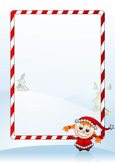 Free Vector Illustration Of A Christmas Greeting Card Royalty Free Stock Photos - 6327078