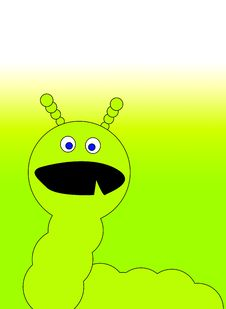 Free Green Caterpillar Monster 2 Stock Image - 6327781