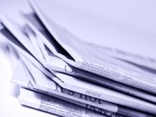 Free Stacked Newspapers Stock Image - 6327951