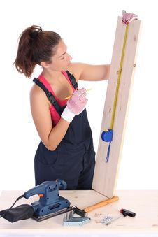 Free Woman Carpenter Royalty Free Stock Photo - 6328135