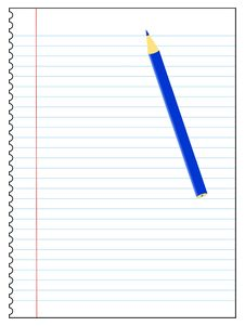 Free Note Paper & Pencil Stock Photo - 6328400