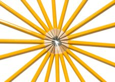 Free Vibrant Ring Of Yellow Pencils Stock Photos - 6328843