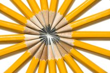 Free Bright Circle Of Yellow No. 2 Pencils Royalty Free Stock Photos - 6328848