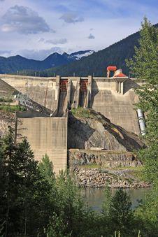 Concrete Hydro Electric Dam Stock Photo
