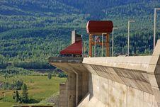 Concrete Hydro Electric Dam Stock Photography