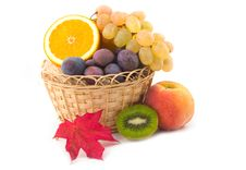 Free Red Maple Sheet And Ripe Fruit Stock Photography - 6329082
