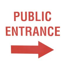Free Public Entrance Sign Royalty Free Stock Image - 6329256