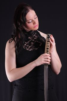 Free Woman With Katana Stock Images - 6329484