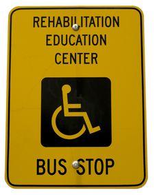 Yellow Handicap Sign Royalty Free Stock Photos