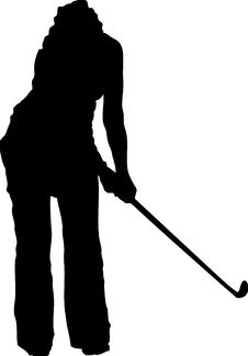 Free Vector Golf Woman Silhouette 2 Stock Photos - 6329833
