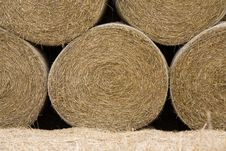 Free Straw Roll Under Pressure. Stock Photography - 6329842