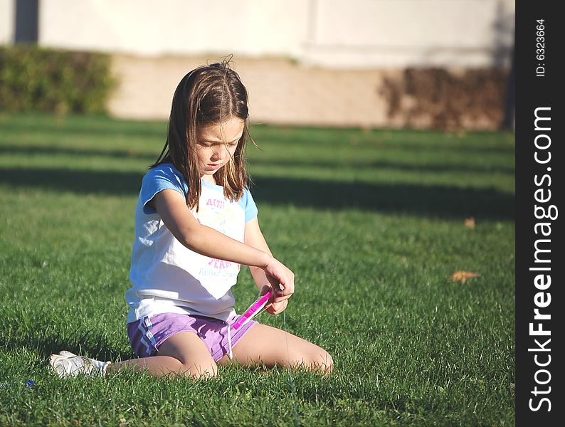 Young girl at a park