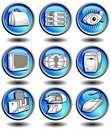 Free Icons In Blue Royalty Free Stock Photo - 6331975