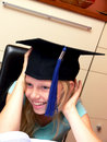 Free Smiling Girl In Graduation Cap Stock Photo - 6336530