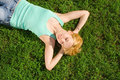 Free Woman Rest On The Grass Stock Photo - 6339080